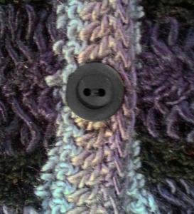 Guimpe -grijs Fenna vest knoop