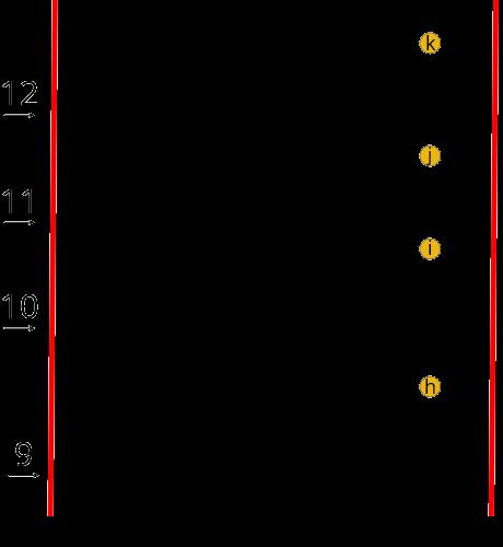 Guimpe - gestreepte trui - mouw maat 42/44