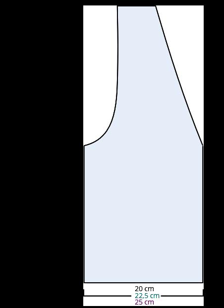 Breien - zwart-wit vestje - voorpand