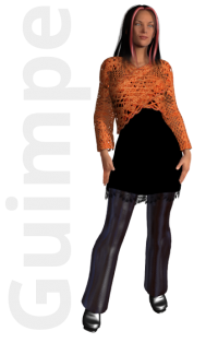 Gratis guimpepatroon - oranje wikkeltruitje