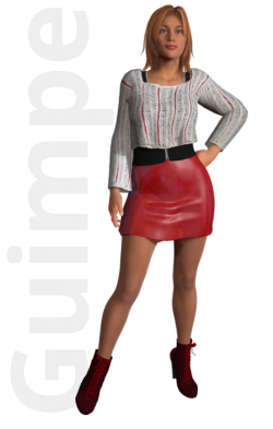Gratis guimpepatroon - wit truitje - thumb