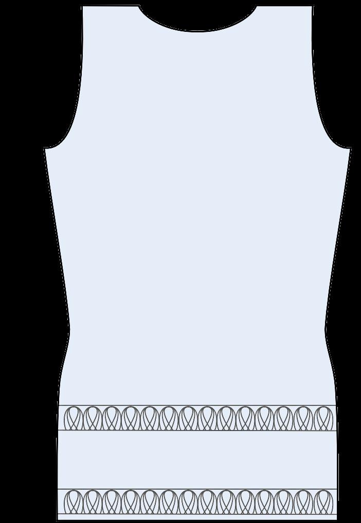 Breien - trui van textielgaren - achterpand