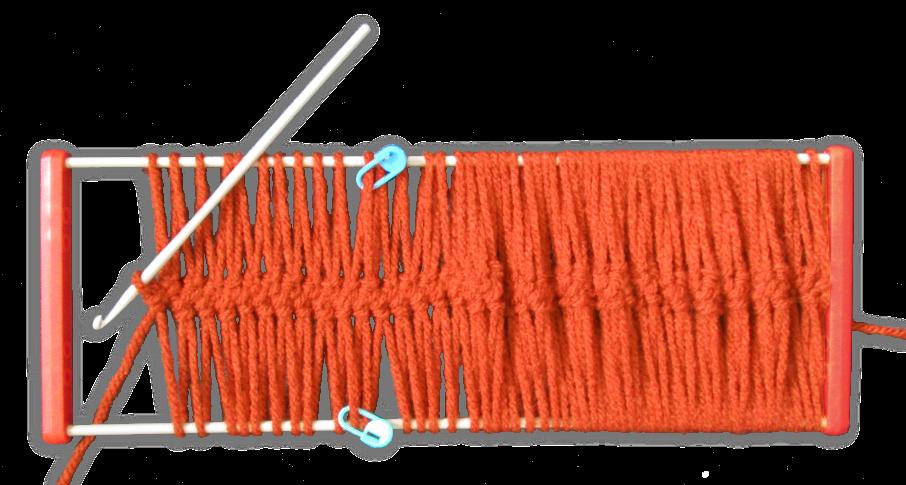 guimpetechniek - veel lussen op de vork