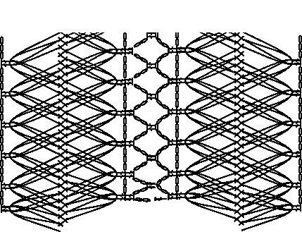 Guimpe - donkerrode tuniek - patroon