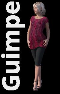 Gratis guimpepatroon - donkerrode tuniek