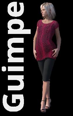 Gratis guimpepatroon - donkerrode tuniek - thumb