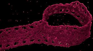Guimpe - donkerrode tuniek - zijbaan foto