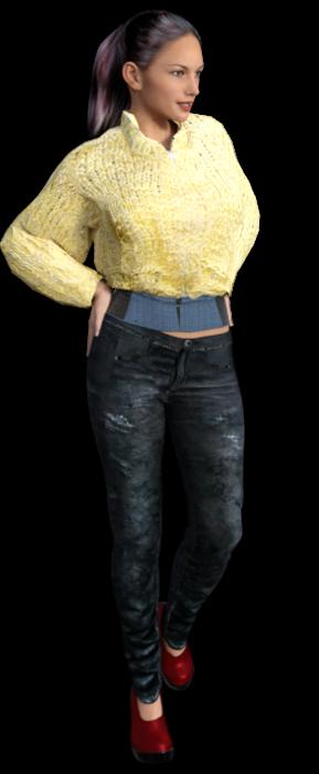 Gratis breipatroon - Geel vestje - model
