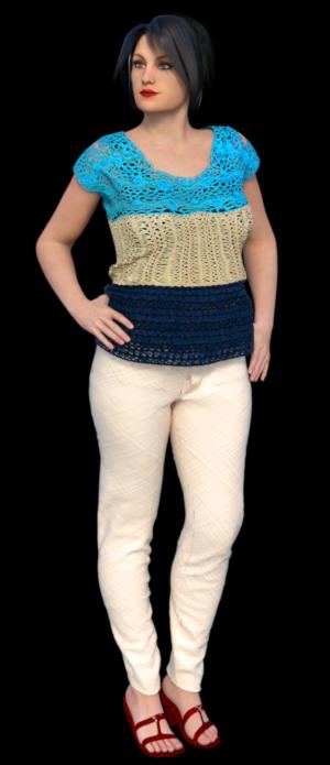 Guimpe - 3-kleurig shirt