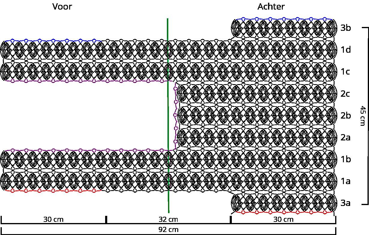 Guimpepatroon - witte top - panden