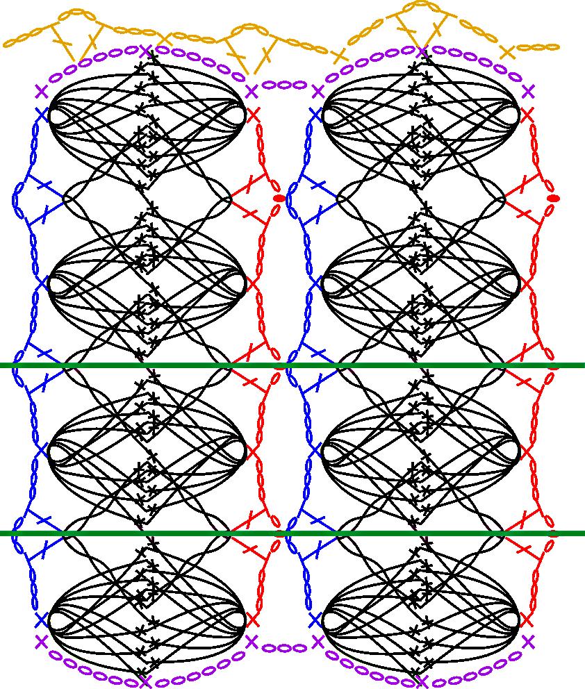 Guimpepatroon - witte top - patroon