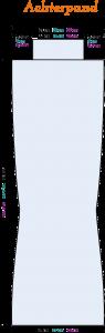 Gratis breipatroon - blauwe trui - achterpand