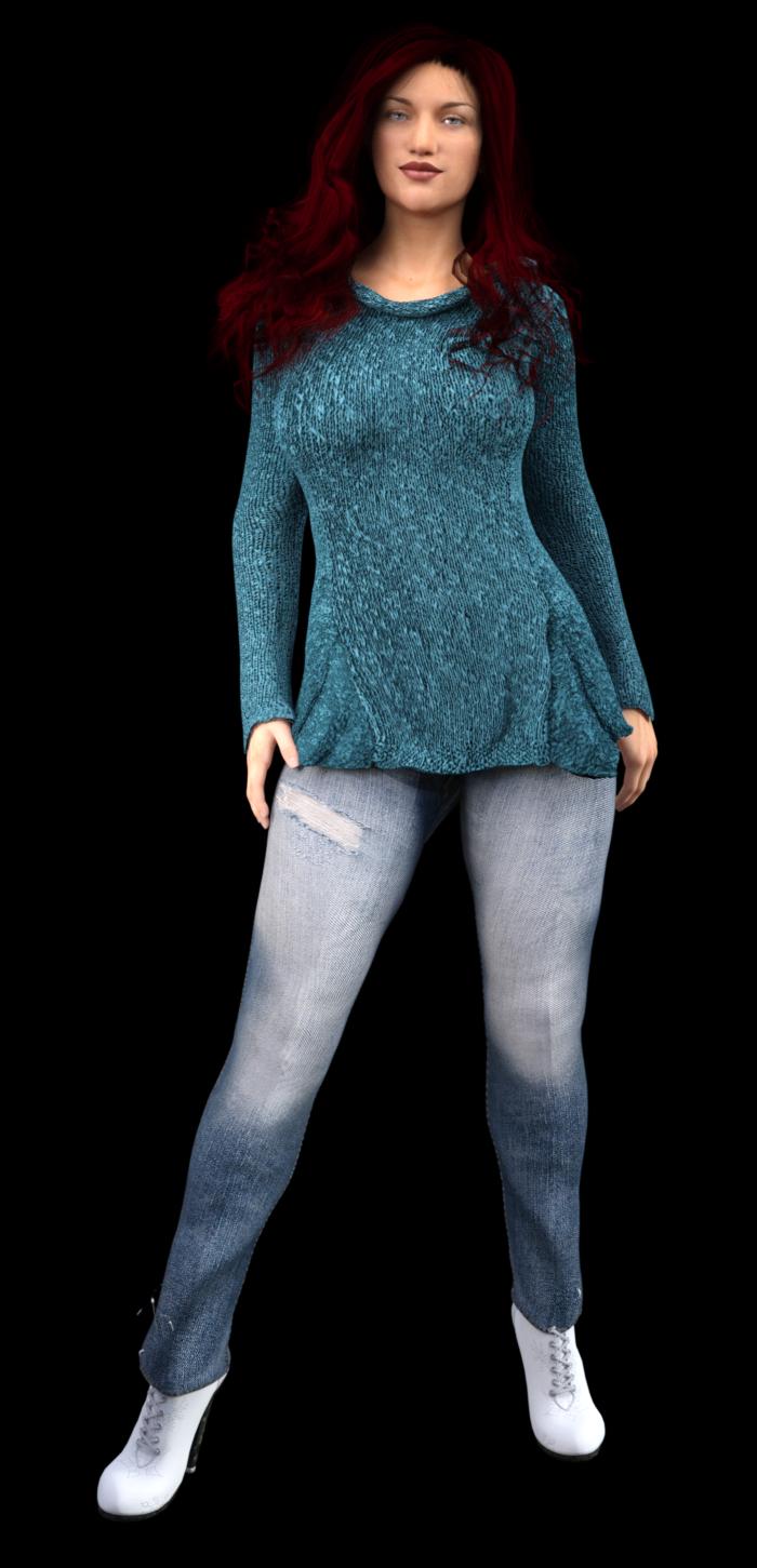 Gratis breipatroon - blauwe trui