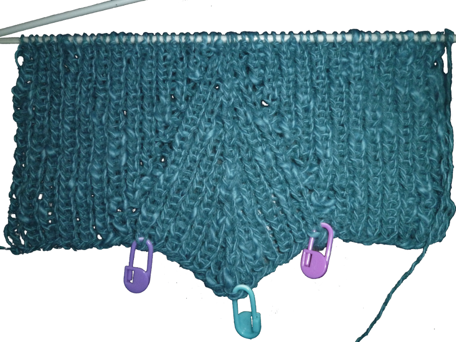 Gratis breipatroon - blauw truitje - illustratie
