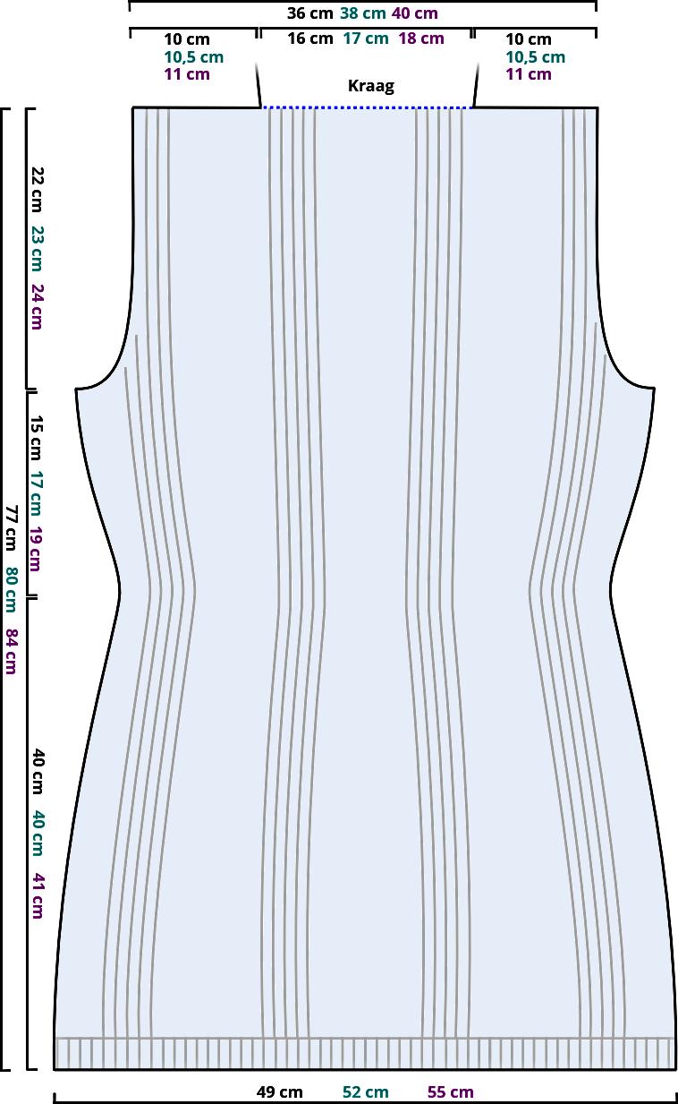Gratis breipatroon - mouwloos vest - achterpand