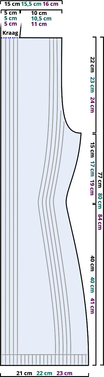 Gratis breipatroon - mouwloos vest - linker voorpand