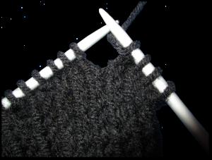 Gratis breipatroon -mouwloos vest - illustratie 1 - verkorte naald