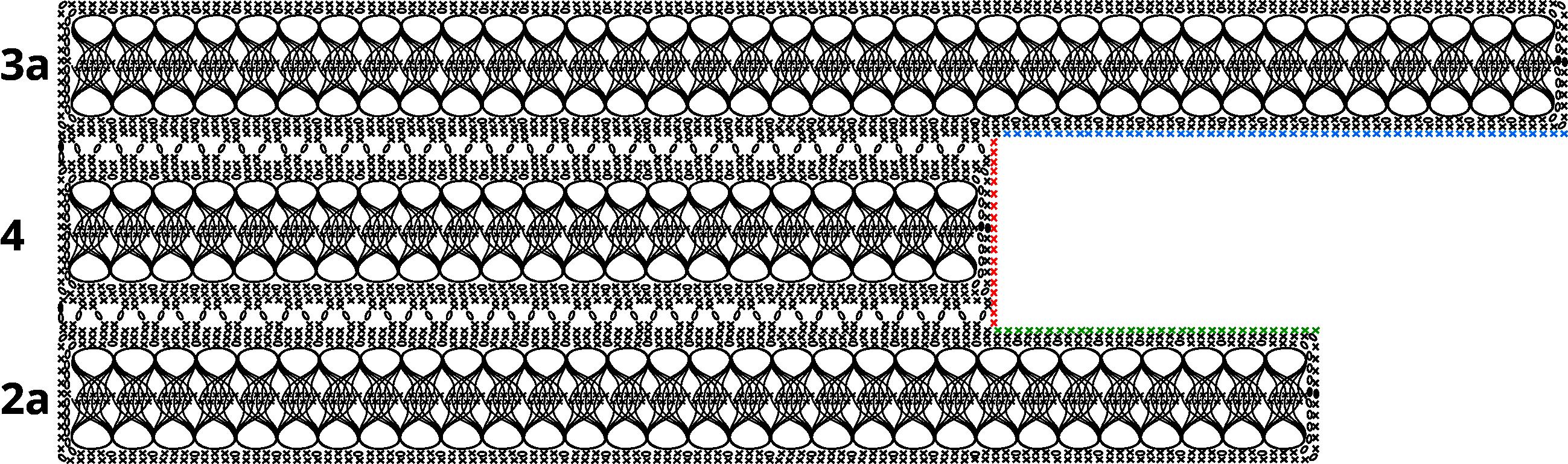 Gratis guimpepatroon - bruinzwarte trui - baan 2a-3a-4