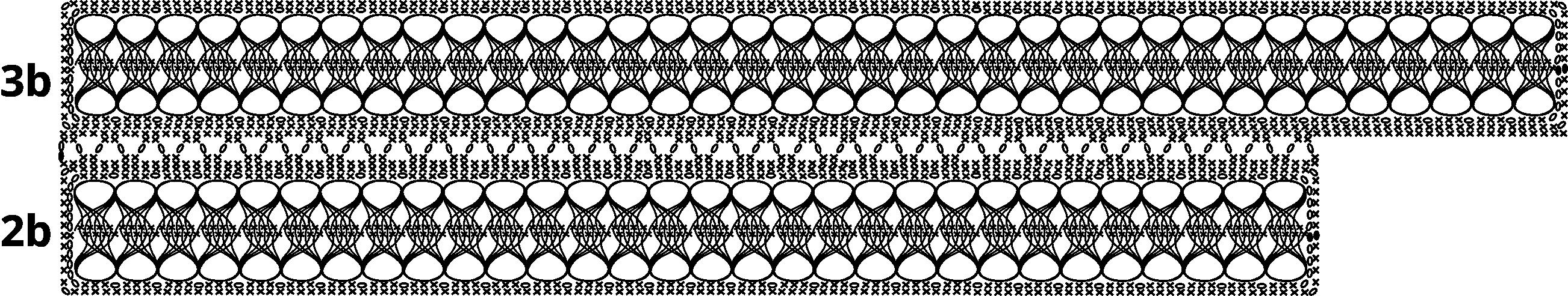 Gratis guimpepatroon - bruinzwarte trui - baan 2b-3b