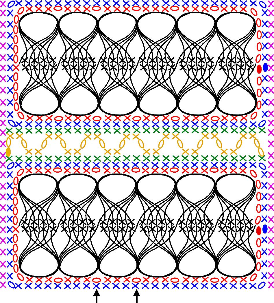 Gratis guimpepatroon - bruinzwarte trui - patroon