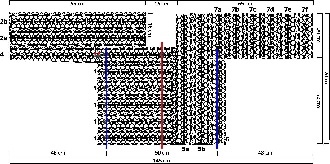 Gratis guimpepatroon - bruinzwarte trui - voorpand