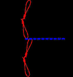 Gratis guimpepatroon - zilvergrijze trui - verbinden overgang 1
