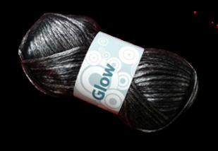Guimpepatroon - zilverkleurige trui - Glow garen
