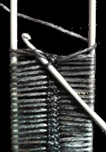 Gratis guimpepatroon - zilvergrijze trui - illustratie