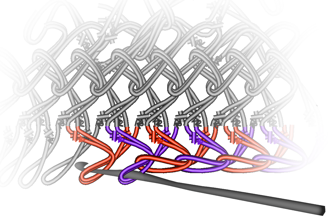 Gratis guimpepatroon - rood rokje - baan 2 onderkant