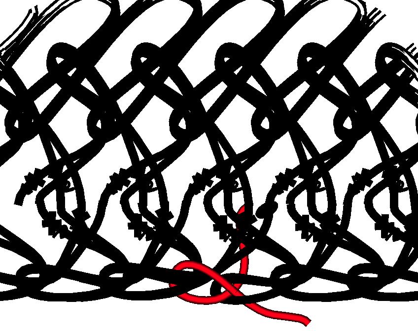 Gratis guimpepatroon - rood rokje - baan 2 onderkant afwerken