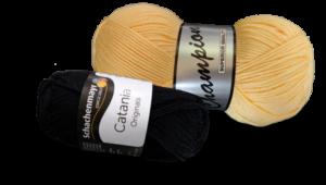 Breipatroon - zwart-geel jurkje - garen